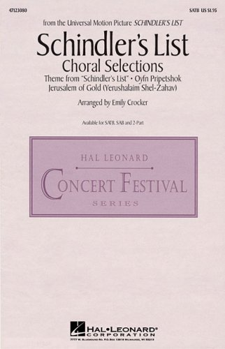 9780634091995: John Williams: Schindler's List (Choral Selections)