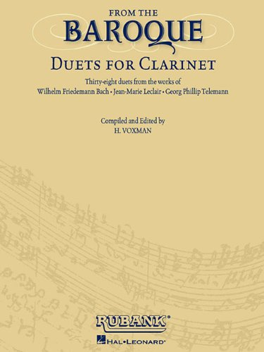 9780634094170: From the Baroque: Duets for Clarinet