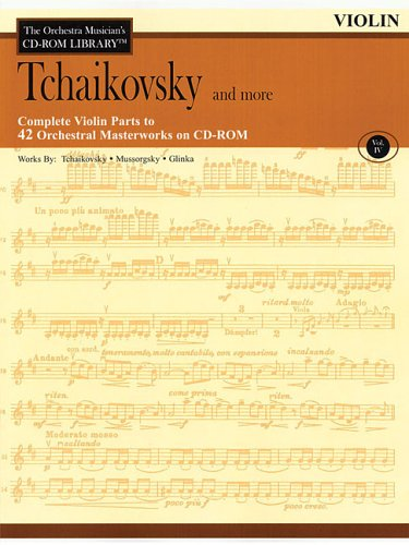9780634094262: Orchestra Musician's CD-ROM Library Volume 4 Violin Tchaikovsky & More