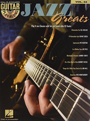 9780634094446: Guitar Play Along Vol.044 Jazz Greats CD (Book & CD)