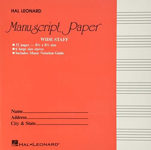 9780634096365: Wide Staff Manuscript Paper (Red Cover)