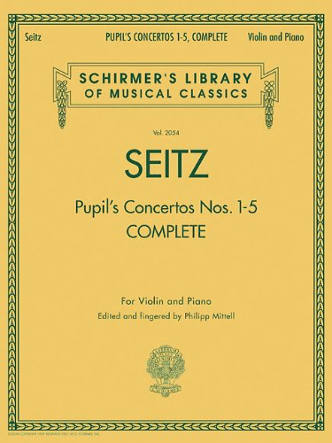 9780634096822: PUPIL'S CONCERTOS NOS. 1-5 COMPLETE VIOLIN AND PIANO (Schirmer's Library of Musical Classics)