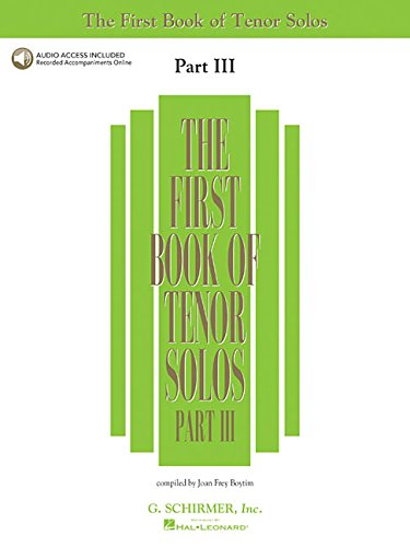 9780634098697: First Book of Tenor Solos