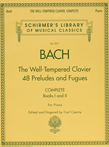 9780634099212: Bach: The Well-Tempered Clavier 48 Preludes and Fugues: Complete Books 1 and II for Piano (Schirmer's Library of Musical Classics)