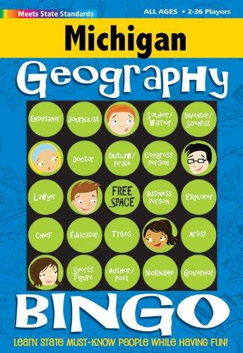 9780635001351: Michigan Geography Bingo Game! (Michigan Experience)