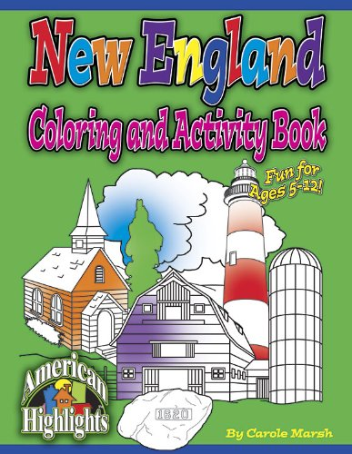 9780635022332: New England Coloring and Activity Book (City Books)