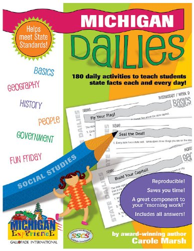 9780635063045: Michigan Dailies: 180 Daily Activities for Kids (Michigan Experience)