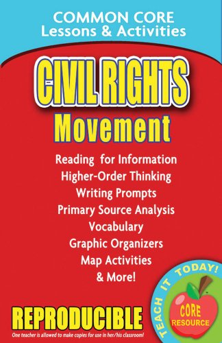 9780635105868: Civil Rights Movement - Common Core Lessons and Activities