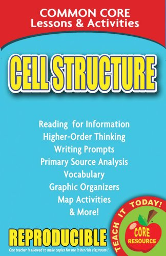 9780635105943: Cell Structure - Common Core Lessons and Activities