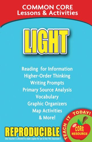 9780635106018: Light - Common Core Lessons and Activities