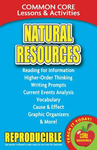 9780635106063: Natural Resources - Common Core Lessons and Activities