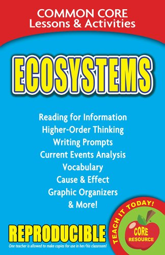 9780635106070: Ecosystems - Common Core Lessons and Activities
