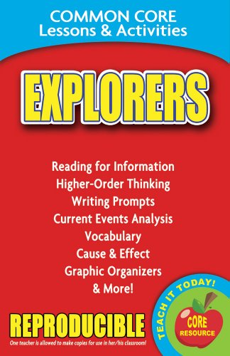 9780635106179: Explorers - Common Core Lessons and Activities