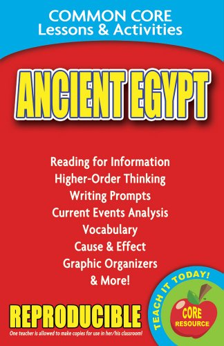 9780635106216: Ancient Egypt - Common Core Lessons and Activities