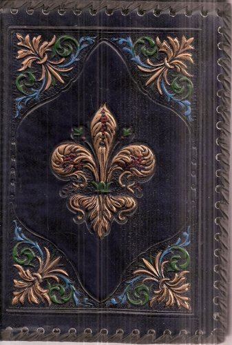 9780641531576: Fleur De Lis Journal in Bas-relief Leather/Leatherette Slipcover by Fiorentina