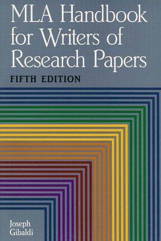 Mla Handbook for Writers of Research Papers: Joseph Gibaldi, Walter