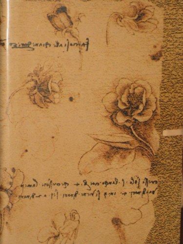 9780641737053: Fiori Da Vinci Tan Italian Leather Printed Journal with Tie 6x8