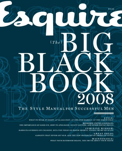 9780641949050: Esquire Big Black Book 2008