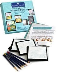 9780641992377: Watercolor Canvas Art Through the Seasons: Discover the Magic of Watercolor Pencils