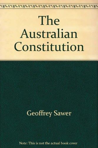 9780642005878: The Australian Constitution