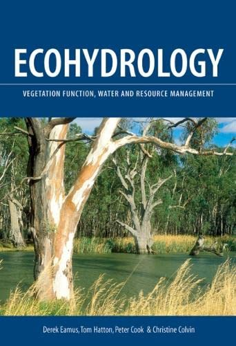 9780643068346: Ecohydrology: Vegetation Function, Water and Resource Management