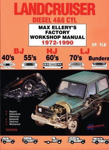 9780646018553: Lancruiser Diesel 4and6 Cyl 1972-90 Factory Shop Man-toyota Bj, Hj, Lj. -40's 55's 60's 70's Bundera