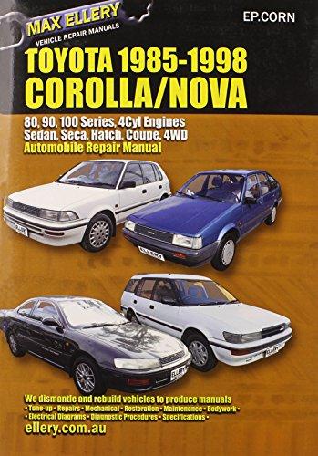 9780646120805: Toyota Corolla/Nova 1985-98 Auto Repair Manual-Sedan, Seca, Hatch,all Engines inc 16 Val TOHC