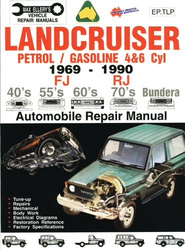 9780646124094: Toyota Landcruiser 1969-1990 Petrol Engines (EP.TLP): Automobile Technical/repair Manual (Max Ellery's Vehicle Repair Manuals)