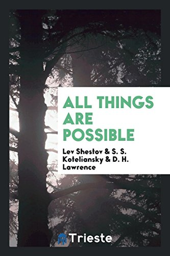9780649011094: All things are possible