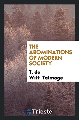 9780649023271: The Abominations of Modern Society