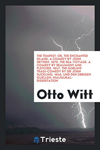 The Tempest: Or, the Enchanted Island, a: Otto Witt