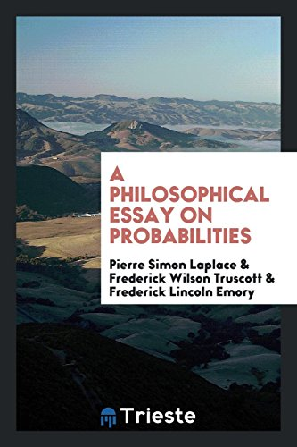 philosophical essay probabilities by truscott emory abebooks a philosophical essay on probabilities laplace pierre simon