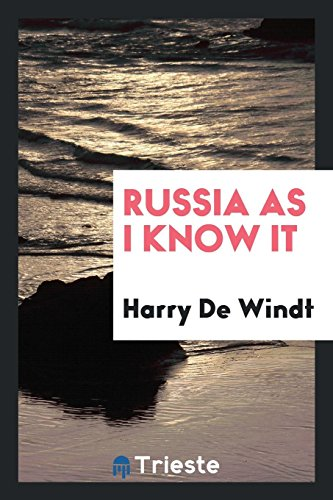 9780649127214: Russia as I know it