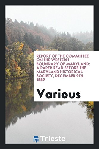 Report of the Committee on the Western: Various,