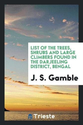 List of the Trees, Shrubs and Large: J. S. Gamble