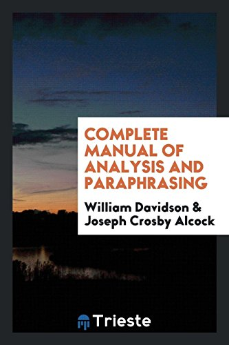 9780649553716: Complete Manual of Analysis and Paraphrasing