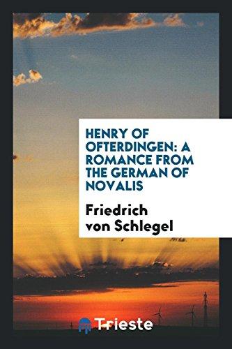 9780649601301: Henry of Ofterdingen: A Romance from the German of Novalis