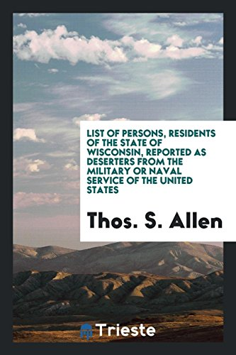 List of Persons, Residents of the State: Allen, Thos. S.