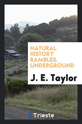 Natural History Rambles. Underground (Paperback): J E Taylor
