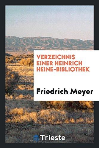 9780649729074: Verzeichnis Einer Heinrich Heine-Bibliothek