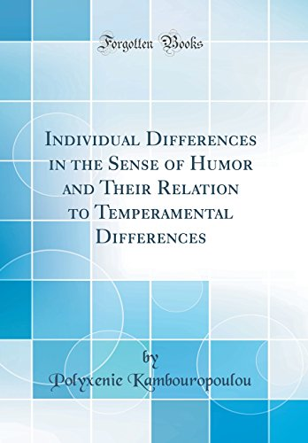 Individual Differences in the Sense of Humor: Kambouropoulou, Polyxenie