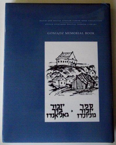 9780657137717: Goniadz Memorial Book