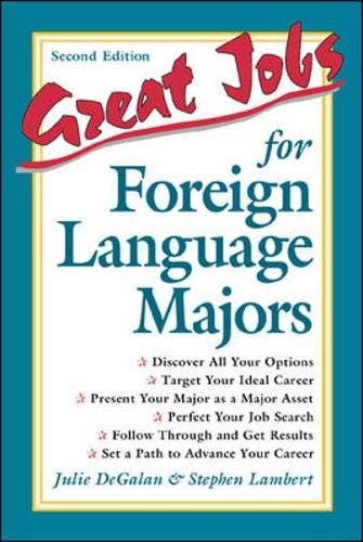 9780658004537: Great Jobs for Foreign Language Majors (Great Jobs For! Series)
