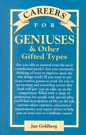 9780658004643: Careers for Genuises and Other Gifted Types