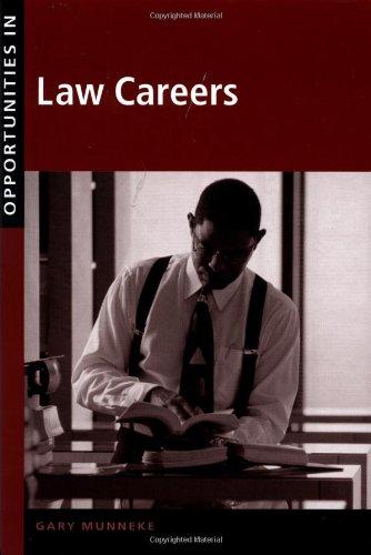 9780658010460: Opportunities in Law Careers