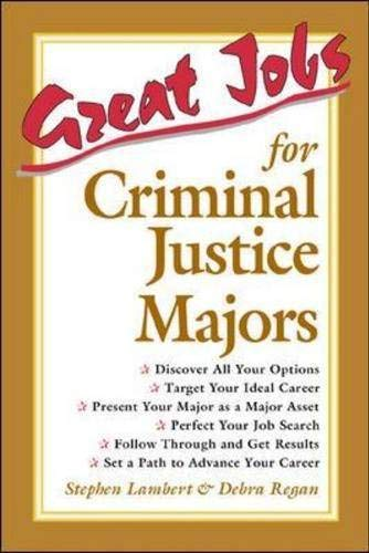 9780658010637: Great Jobs for Criminal Justice Majors