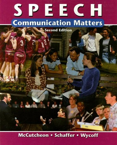 9780658013355: Speech: Communication Matters