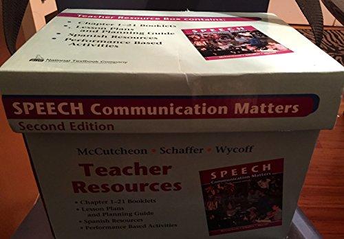 Speech: Communication Matters Second Edition