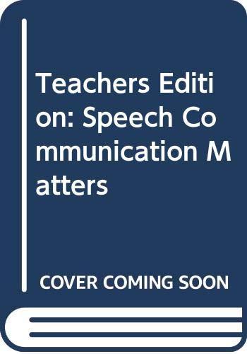 9780658013379: Speech: Communication Matters
