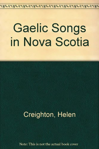 9780660000800: Gaelic Songs in Nova Scotia